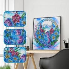 Алмазная живопись особой формы DIY 5D частичная дрель вышивка крестиком бабочка цветочные наборы хрустальные стразы украшение дома
