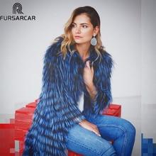 FURSARCAR 2019 Winter Women Real Fox Fur Coat Luxury Natural