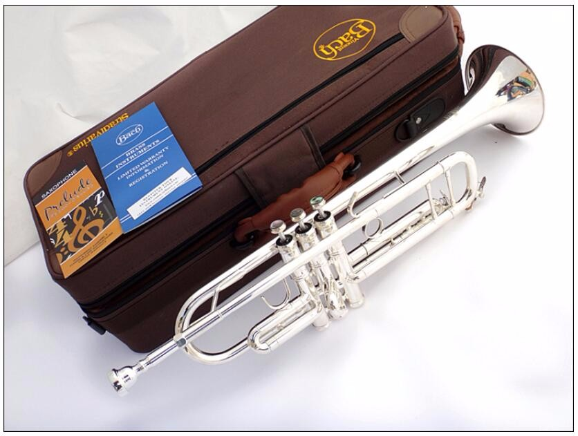 Good Free Senior Bach Silver Plated Bach Trumpet Lt180s-43 Small Brass Musical Instrument Trompeta Professional High Grade. Quality First