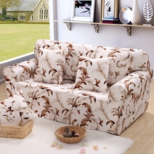 Plant designer universal sofa cover European style stretch sofa cover fresh color leaves print for one two three four seat sofas