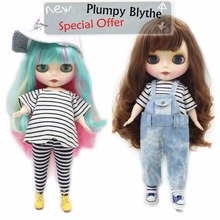 Factory Neo Blythe Doll Plump Body Colorful Hair 30cm