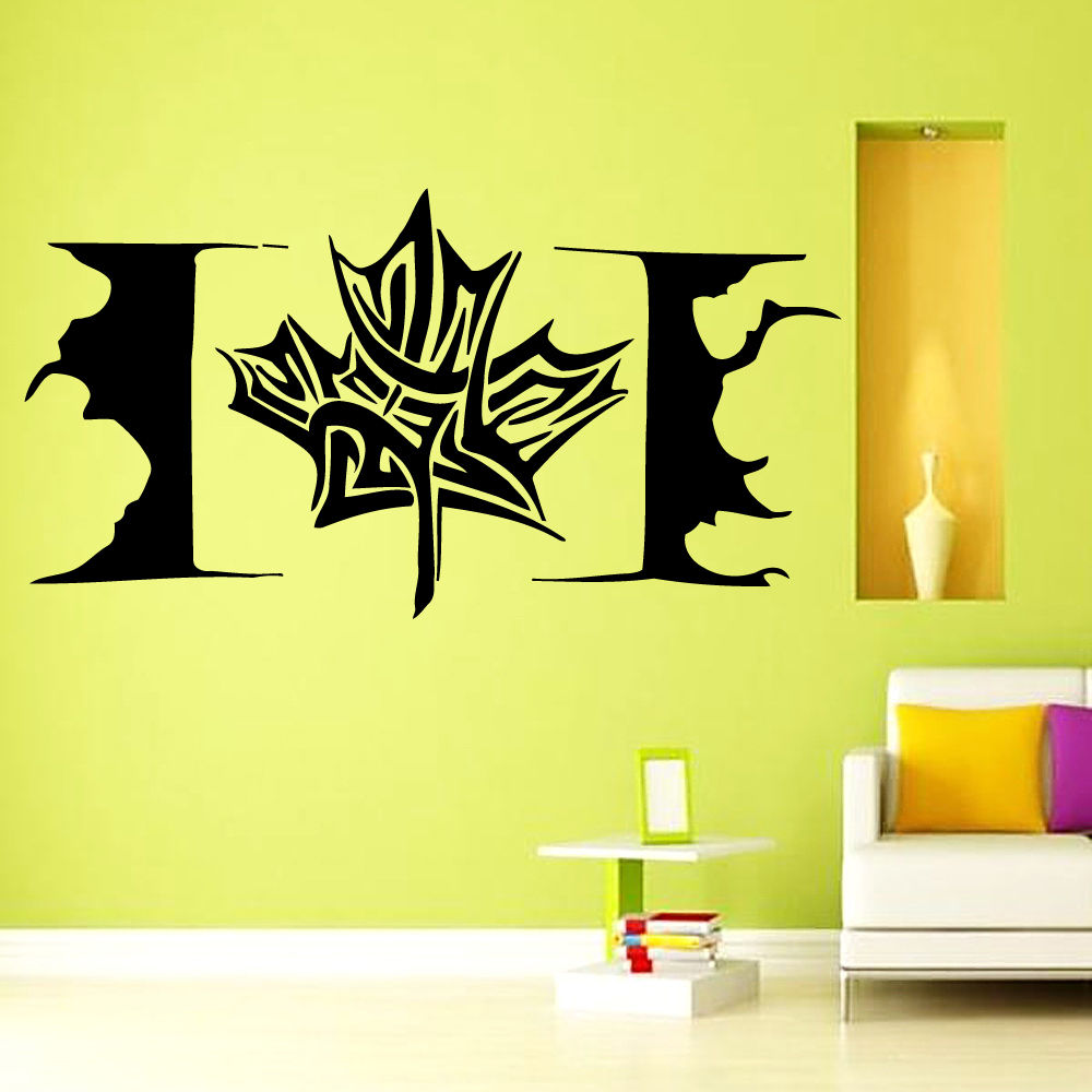 Лидер продаж кленовый лист стены Современного этикета Дизайн Канада Флаг Наклейки офисные Спальня Гостиная применимо Книги по искусству р...