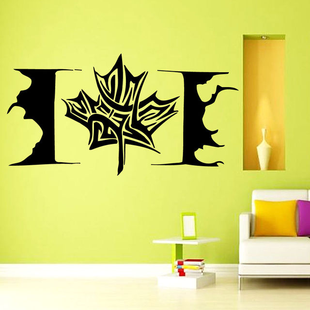 Hot Sale Maple Leaf Wall Decal Modern Design Canada Flag Stickers ...