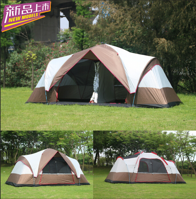 New 6-8 person two room automatic tent waterproof sunscreen big tent double layer rainproof camping tent outdoor camping hiking automatic camping tent 4person double layer family tent sun shelter gazebo beach tent awning tourist tent
