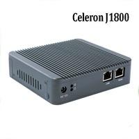 Hot J1800 Dual Core Nano itx fanless mini hardware VPN router firewall apllliance 2*intel Gbe Lan embedded pfsense Max 8GB/256GB