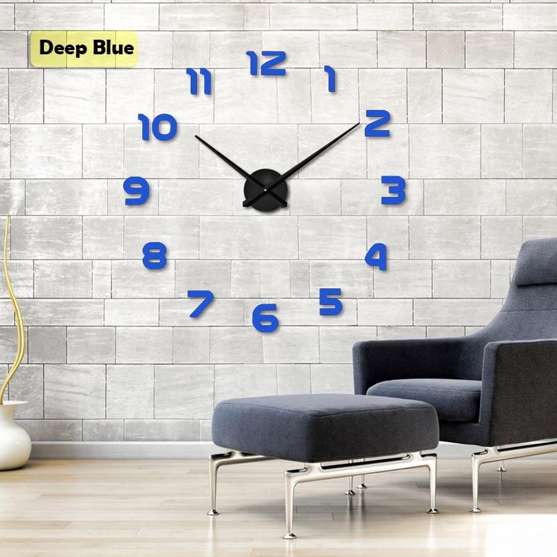 2019 muhsein Velké Nástěnné Hodiny Horloge 3D Diy Akryl Zrcadlo - Dekorace interiéru