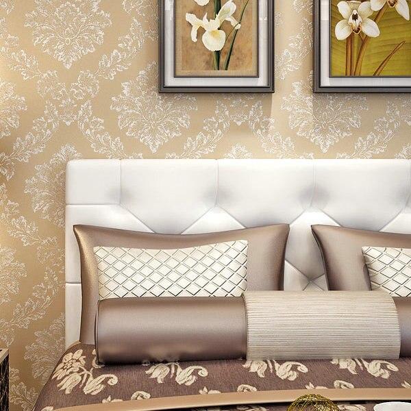 nuevo estilo no tejido del papel pintado del damasco europea vintage decoracin de paredes de papel