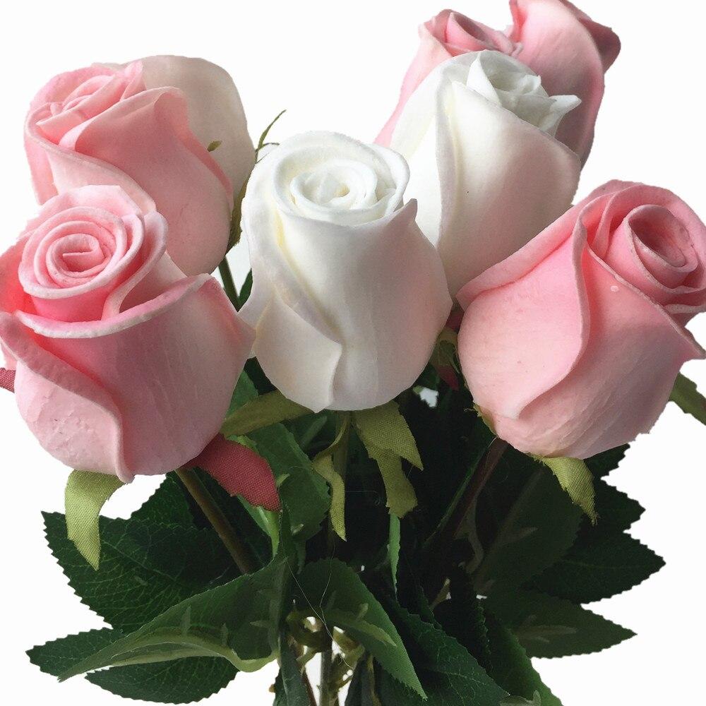 11 وعاء وردة بملمس طبيعي زهرة الوردي الأزرق الأسود الأحمر الأصفر