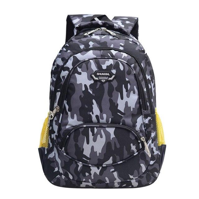8cba2afde8 Waterproof Backpack Children School Bags boys Orthopedic Backpack kids  Camouflage SchoolBag Primary School Backpacks sac enfant