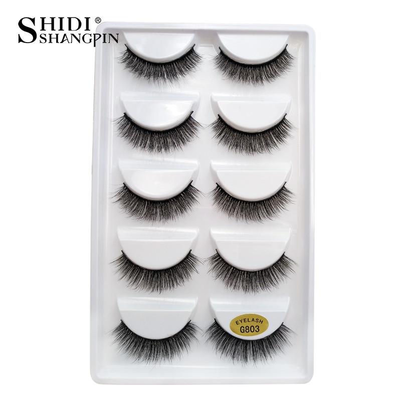 Image 2 - SHIDISHANGPIN 50 pairs natural long false eyelashes fluffy 3d mink lashes make up 100% cruelty free fake eyelash faux cils G803False Eyelashes   -