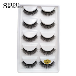 Image 2 - SHIDISHANGPIN 50 pairs natural long false eyelashes fluffy 3d mink lashes make up 100% cruelty free fake eyelash faux cils G803