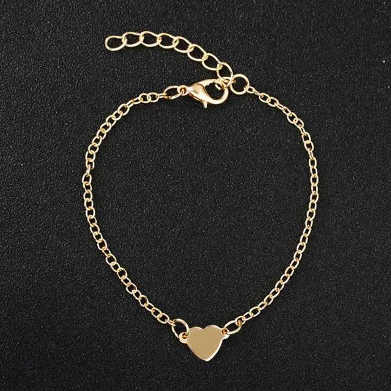 2018 מכירה טובה נשים טרנדי תכשיטי כפול לב סגנון אהבת זהב צבע צמיד מתנה