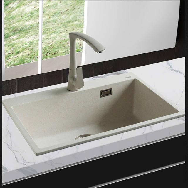 Online Shop 650*450*200mm Quartz Stone Kitchen Sink Granite single ...