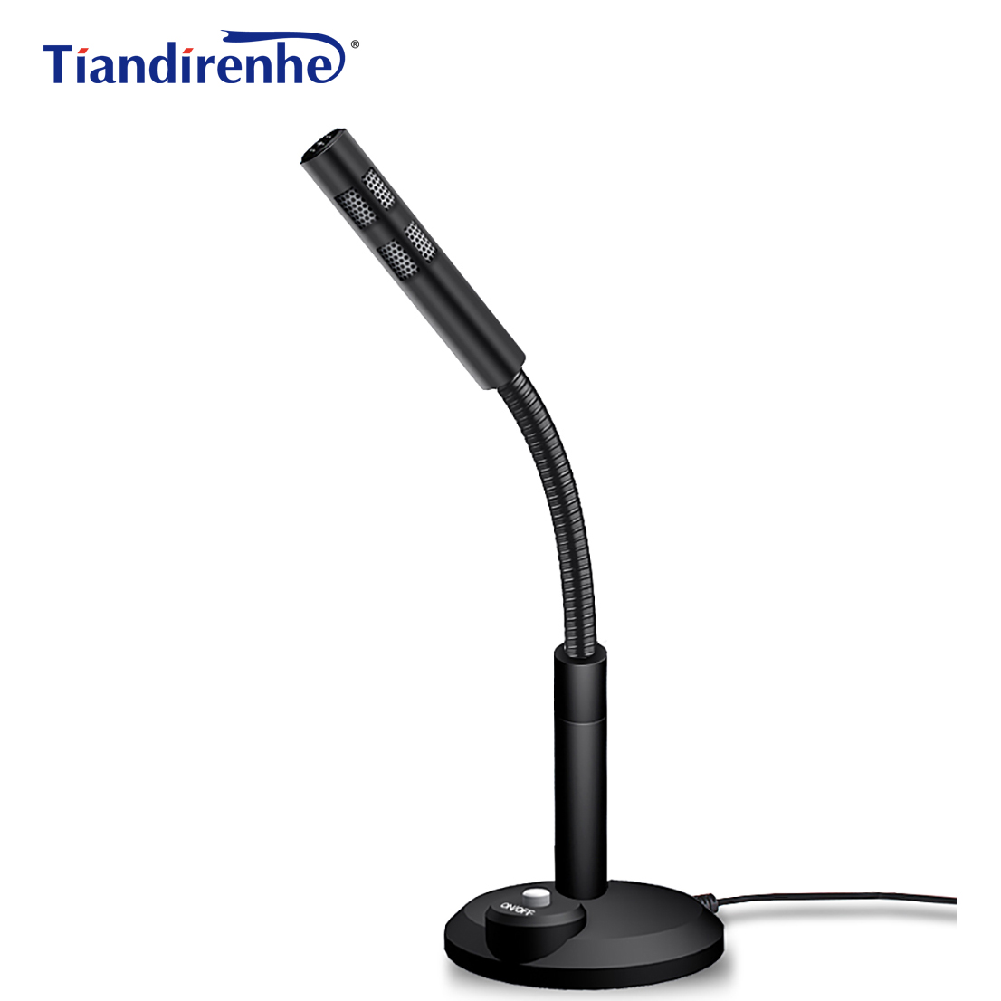 Tiandirenhe 3.5mm Microphone pour Ordinateur Capacitif PC Haut-Parleur Mic pour Téléphone Ordinateur Portable Skype MSN Karaoke Studio Microphones