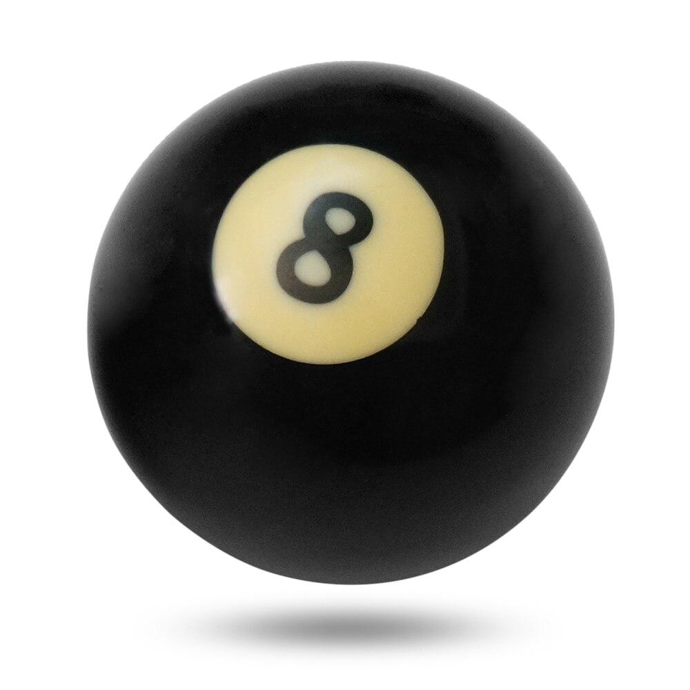 1 шт. бильярдный шар s бассейн Кий шар восемь бильярдный шар черное бильярдное оборудование бильярдный стол Замена обучения 57,2 мм/52,5 мм - Цвет: 52.5mm