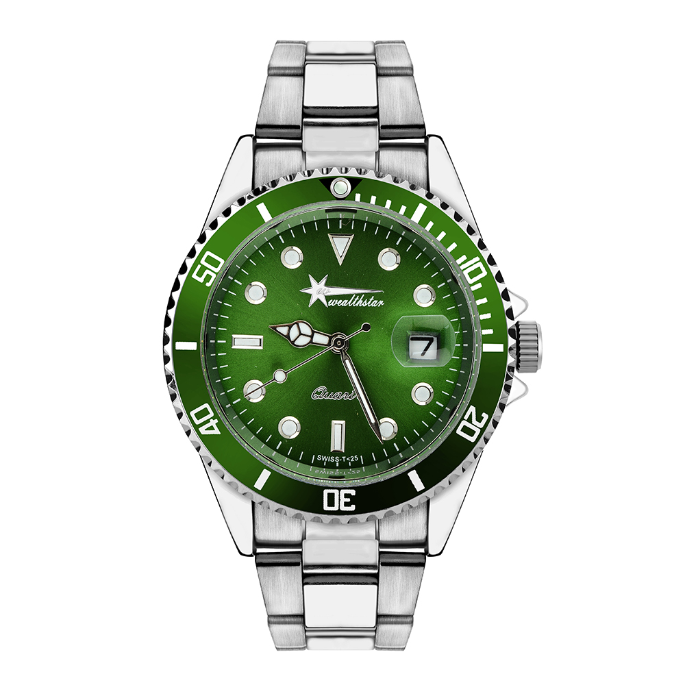 watch pvd black t crystal stainless green quartz men locman chrono man silver steel rubber watches stealth strap en titanium