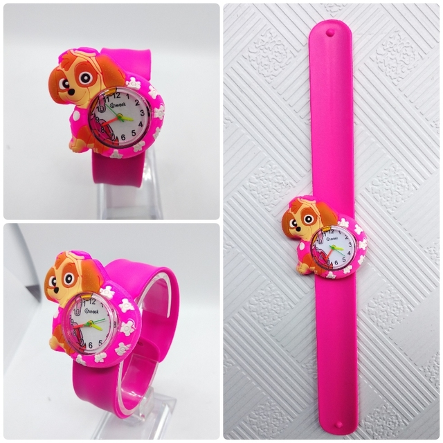 Hot Selling Pooch Team Children Watch For Girls Boys Cartoon Dogs Slap Silicone Kids Watches Students Child Gift Baby Clock G