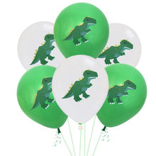 10Pcs/12Inch Dinosaur Balloon Latex Babyshower Wedding Party Birthday Decorations Helium Balloons kids Theme Decor Supplies