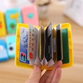 New Three-dimensional Silica Student Credit Pack Card Sets 6 Kinds Of Cartoon Picture Package Clip Card Case 40