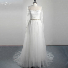 yiaibridal LZ313 Yiai Wedding Dress Long Sleeve Train