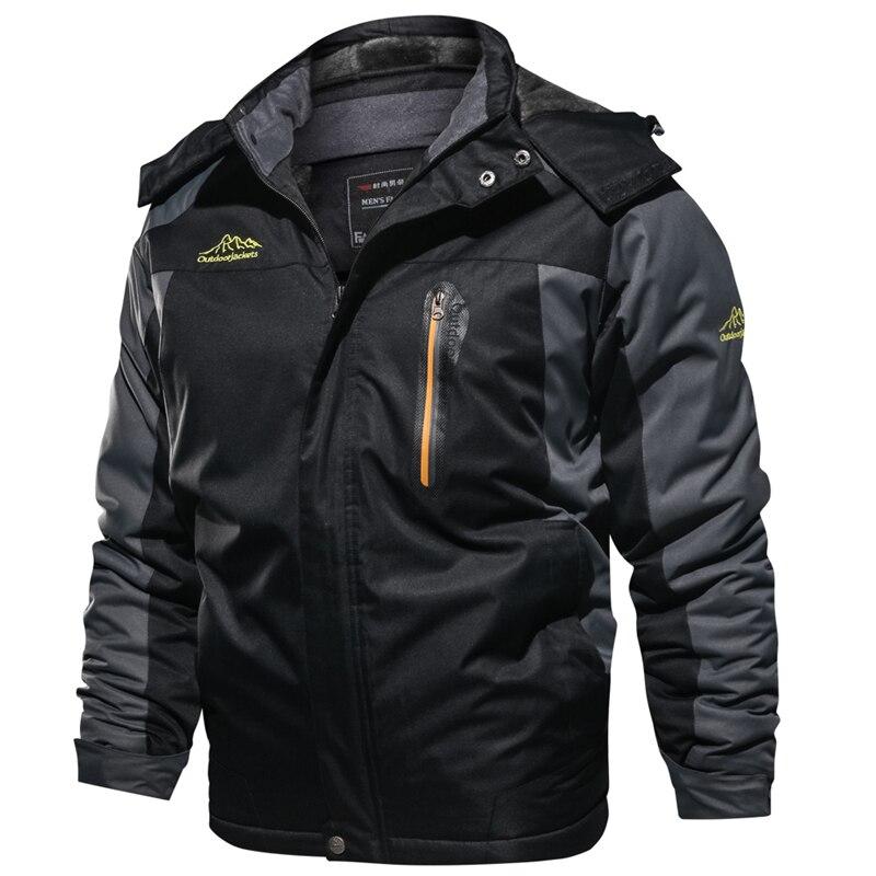 2019 Winter Thicken Jackets Men Snow Warm Fleece Coats Parkas Hooded Overcoat Windbreaker Waterproof Military Jacket 6XL 7XL 8XL