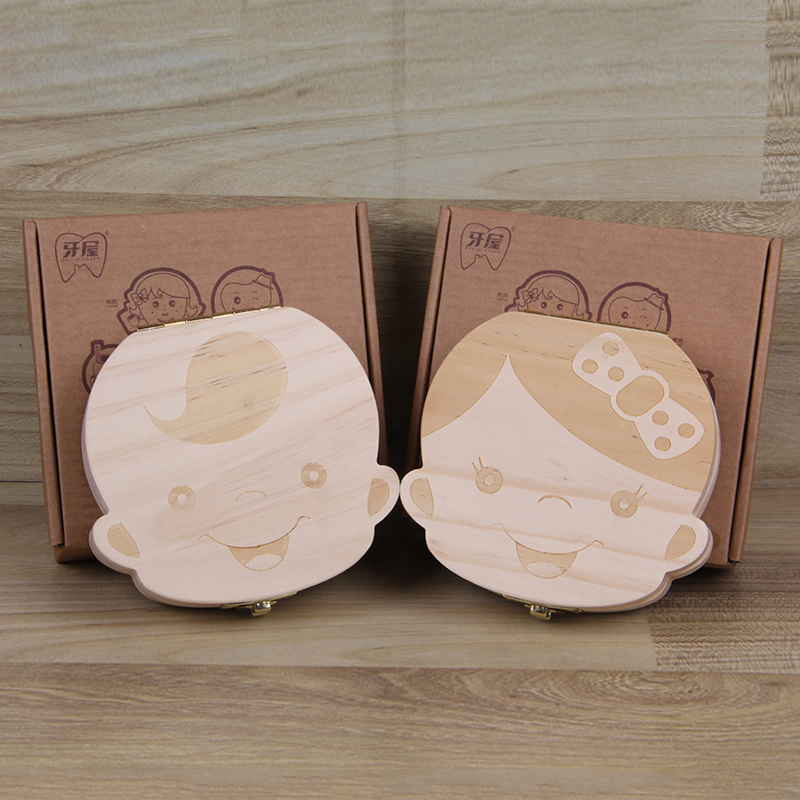 Tooth Box organizer for Baby Save Milk teeth Wood Storage box great gifts 3-6YEARS Creative Kids Boy and Girl image oyuncak