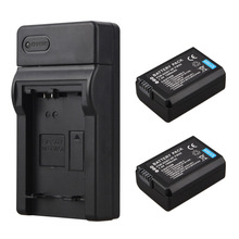 2x 1500mAh 7.4V NP-FW50 NP FW50 NPFW50 Battery + USB Charger For Sony Alpha 7 a7 7R a7R 7S a7S a3000 a5000 a6000 NEX-5N 5C A55