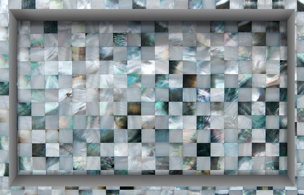 Shell Mosaic 3D Peel And Stick Waterproof Non Slip PVC