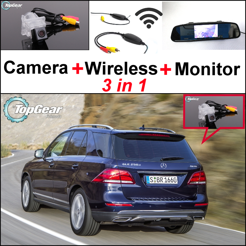 For Mercedes Benz M ML Class MB W166 3 in 1 Special WiFi Camera + Wireless Receiver + Mirror Monitor Parking Back Up System