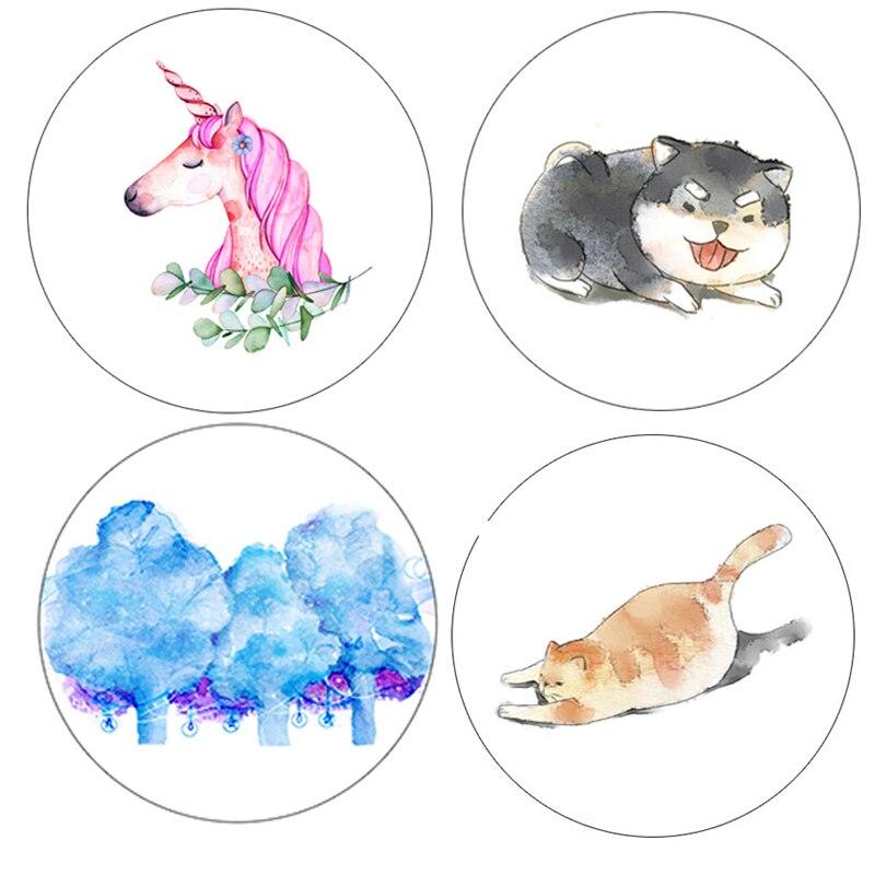 1 Pcs DIY Japanese Paper Washi Tapes Cat Dogs  Nicorn Masking Tapes Decorative Adhesive Tapes 15mm*5m Alideco