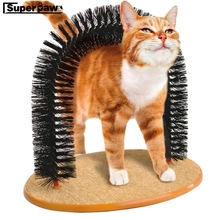 Arch Pet Cat Self Groomer With Round Fleece Base Cats Toy Brush Toys For Pets Scratching Devices Kitten Grooming Supplies JND05
