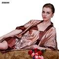 Мода пижамы домашняя одежда лето осень пижамы цветочный принт сексуальная одеяние и платье устанавливает простой удобный