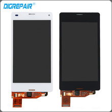 4.3 inch Black White For Sony Xperia Z3 Compact LCD Display Z3 mini LCD D5803 D5833 Touch Screen Digitizer , free shipping