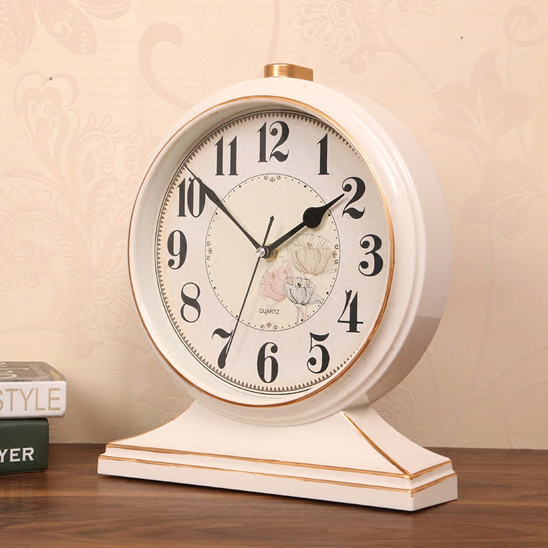 New 10 Metal Pointer Despertador Electronic Desk Clock Large Retro Mute Table Bedroom Office Stopwatch Antique Style Circular