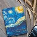Kindle Paperwhite чехол ван гог дизайн кожи, Подсветка тонкий кожаный чехол Fit kindle-бесплатная Paperwhite1 2 3 2015 6-го поколения
