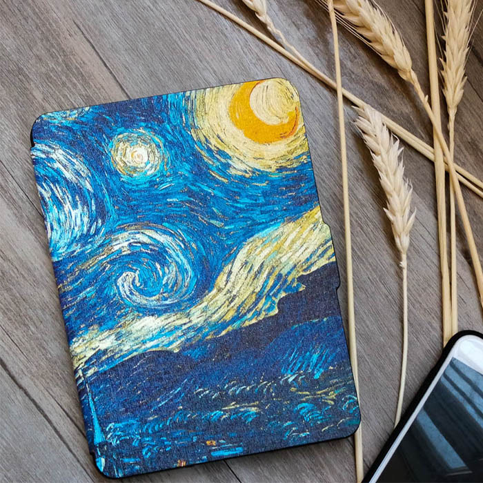 Kindle Paperwhite Case Van Gogh Design Skin Lighted Slim Leather Cover Fit Kindle Paperwhite2013 2015 2016
