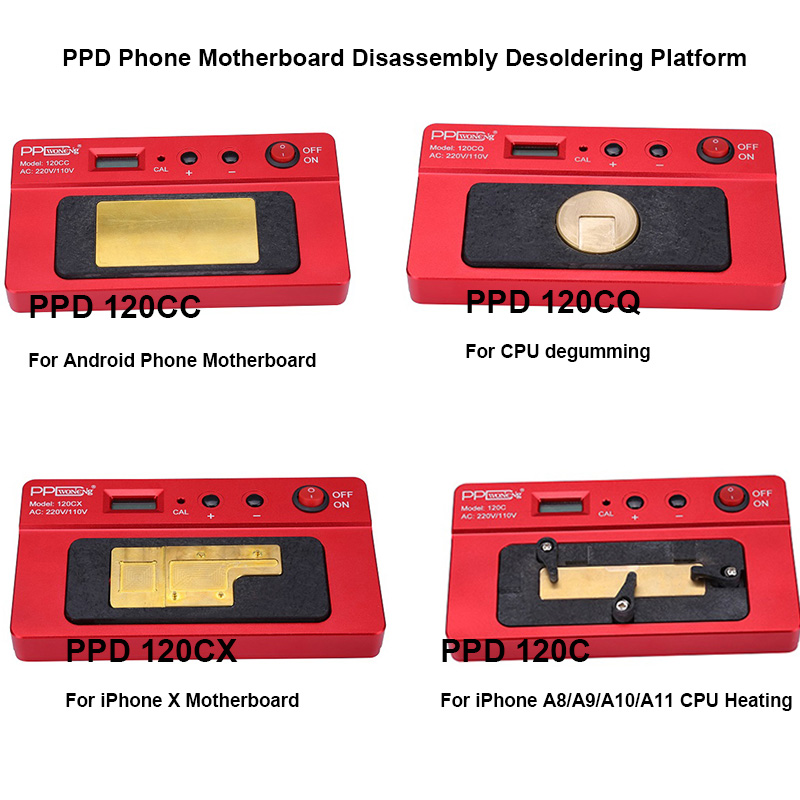 PPD 120C/120CC/120CQ/120CX Intelligent Demolition Desoldering Platform Heating Plate For iPhone Android Motherboard DisassemblyPPD 120C/120CC/120CQ/120CX Intelligent Demolition Desoldering Platform Heating Plate For iPhone Android Motherboard Disassembly