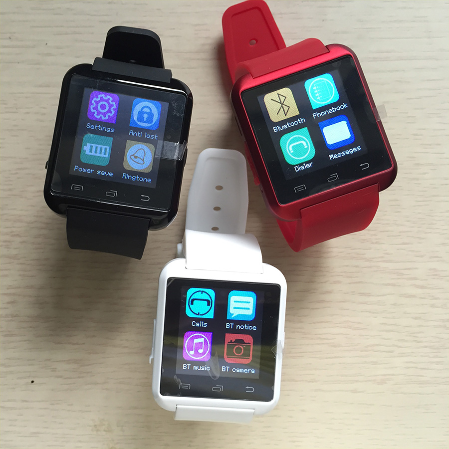 10 pcs u8 smart watches red shipping in one package by DHL