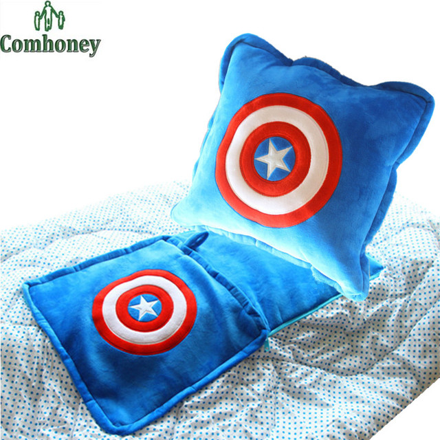 Captain America Babydecke Kissen Fütterung Kissen Batman Superman