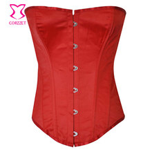 Women Body Waist Trainer Corpetes E Espartilhos Gothic Corsette Corsetto Sexy Lingerie Bustiers Red Overbust Corset Leather Top