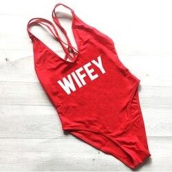 WIFEY, сексуальный купальник, женская одежда для плавания, Цельный боди, пуш-ап, монокини, Холтер, крест, купальный костюм, одежда для плавания, ... 4