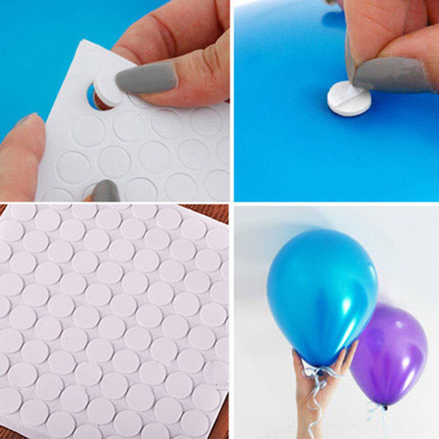 500 Points Balloon Attachment Glue Dot Attach Balloons To Ceiling or Wall Stickers Birthday Party Wedding Supplies Wholesale