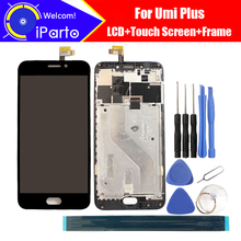 5.5 дюймов UMI плюс ЖК-дисплей Дисплей + Сенсорный экран планшета + Рамки сборка 100% оригинал ЖК-дисплей + сенсорный дигитайзер для плюс + Инструменты