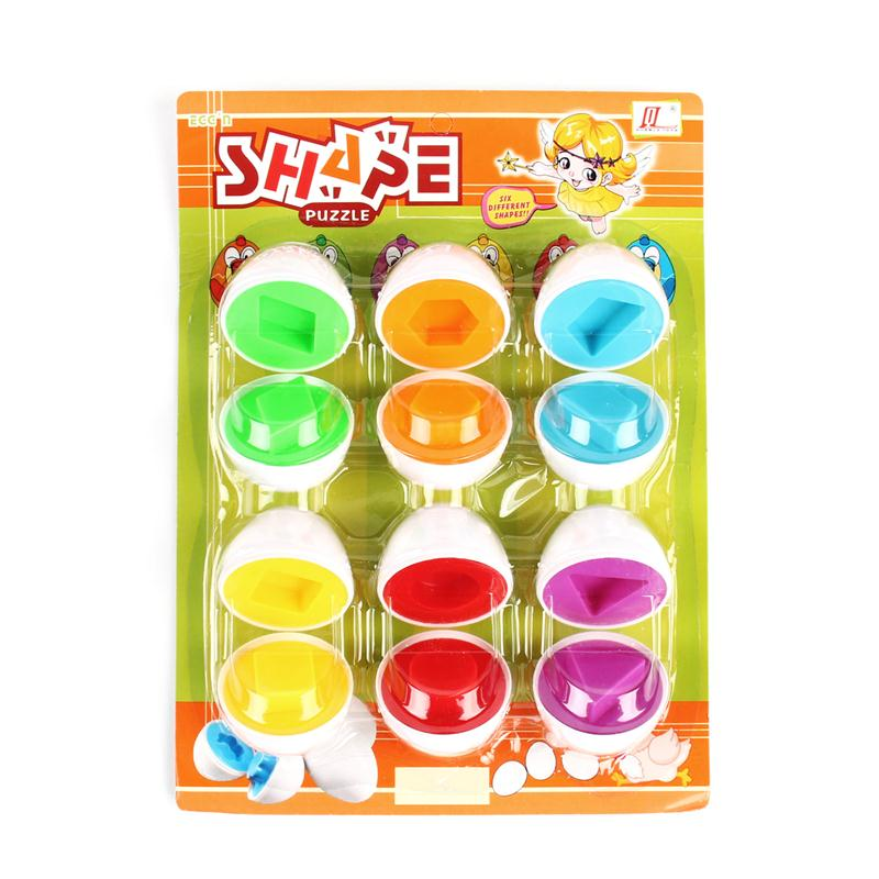 Hot 6 eggs/set Education Puzzles for Children Learning toys Baby Kid Egg Learning Mixed Shape Wise Pretend Puzzle Smart Eggs