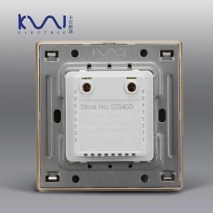 Image 4 - Ücretsiz kargo COSWALL lüks duvar ışık anahtarı karartıcı kontrol cihazı şampanya altın AC 110 ~ 250V C31 serisi