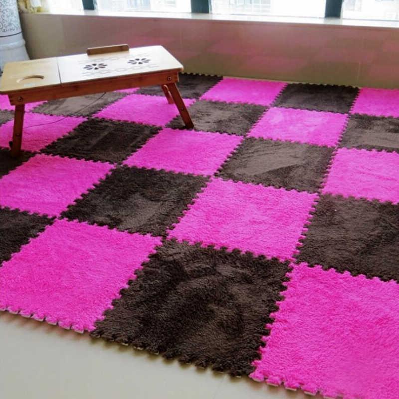 최고 판매 30*30cm 카펫 거실 침실 어린이 어린이 소프트 카펫 매직 패치 워크 직소 스플 라이스 헤드 등산 아기 매트