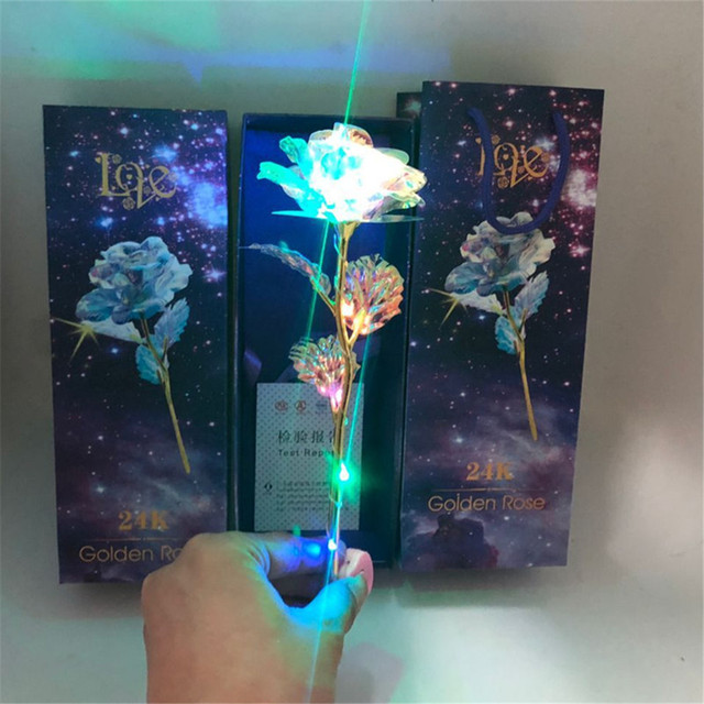 Galaxy Rose With Love Base Everlasting Crystal Mother's day Gift The Best Choice Home Decoration Accessories