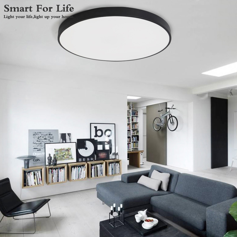 Dashing 4pcs Fanlive Nordic Ceiling Lamp Led Ultra-thin Round Simple Living Room Living Room Lamp 470 Balconies Aisle Lamps Ceiling Lights & Fans