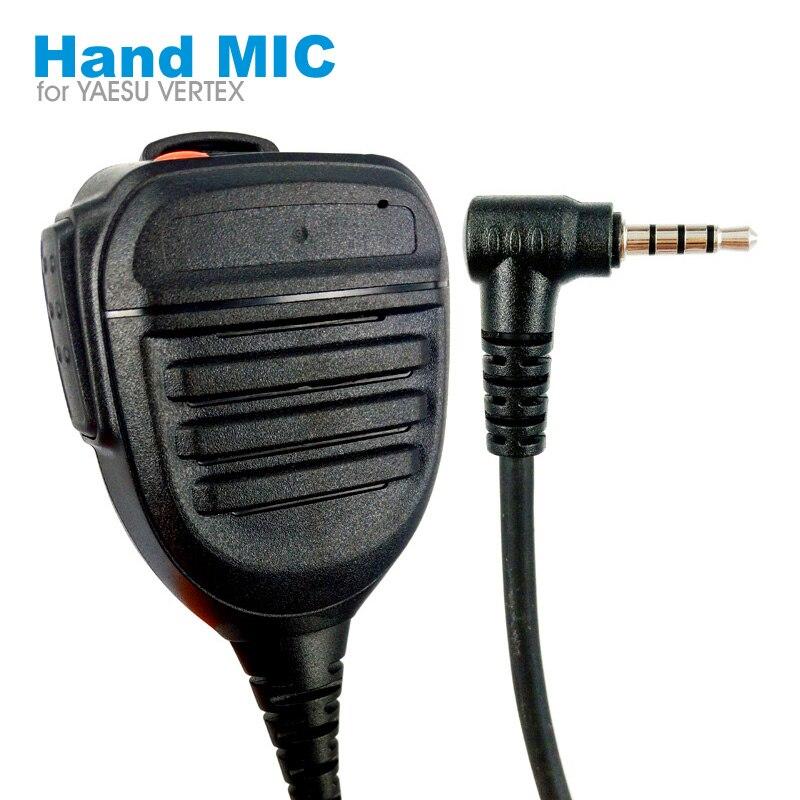 PTT Speaker Mic Microphone For YAESU VERTEX VX-3R VX-10 VX-17 VX-110 VX-150 VX-130 FT1D FT1XDR FT2DR FT2XDR Walkie Talkie Radio