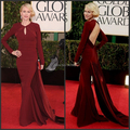 G6162 Free shipping Naomi Watts Burgundy Prom Gown 2016 For Golden Globe Awards